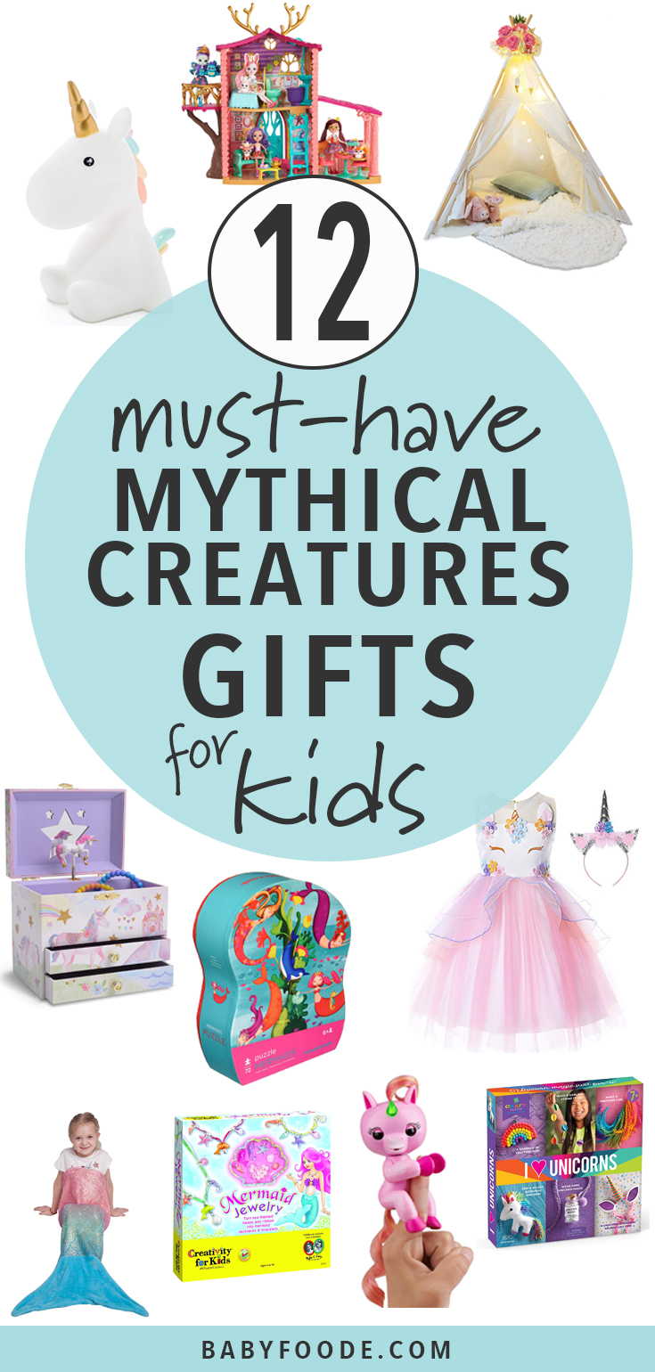 Unicorns, fairies, and mermaids oh my! Your child will love these mythical creatures gifts for ages 4-7! #giftguide #kids #holidays #christmas #shopping
