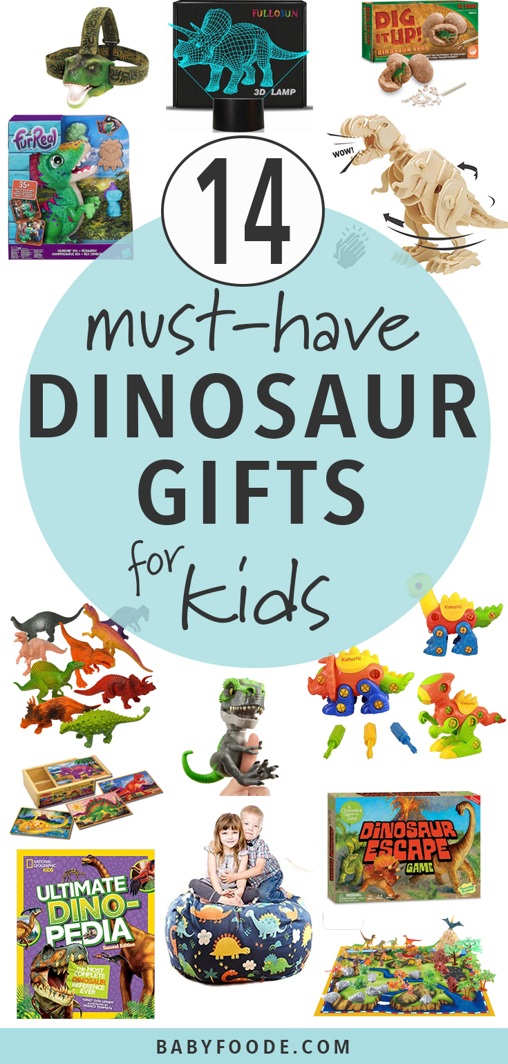 Dinosaurs rule - rawr! This is a must have gift guide for any child in your love who's obsessed with dinosaurs! Games, toys, models and more, you'll find the perfect gift for the holiday season. #shopping #giftguide #dinosaurs #kids #christmas