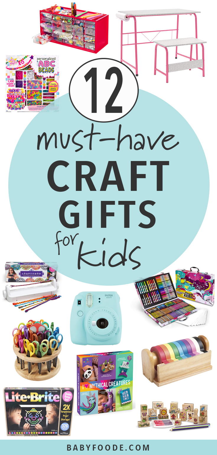 Calling all parents of crafting kids - this is the gift guide you need! 12 must have arts and crafts gifts for that little maker in your life. #giftguide #artsandcrafts #kids #christmas #shopping