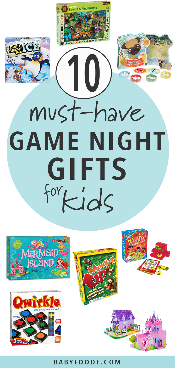 Level of your game night with these awesome board games for kids that parents will love too! 10 of the best must-have games for kids ages 4-7. #games #boardgames #giftguide #kids #shopping