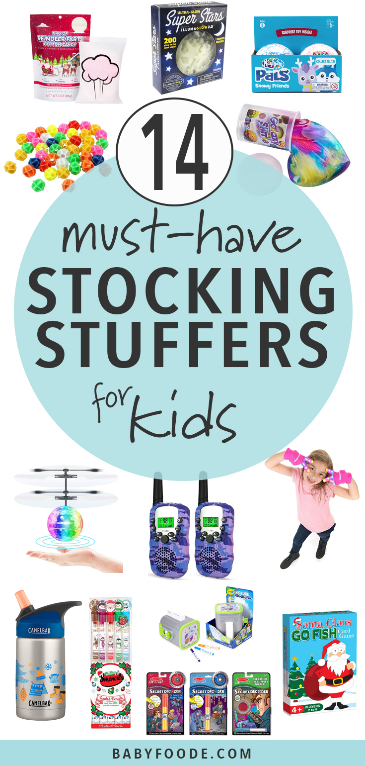 All love stocking stuffers, but especially kids! See their eyes light up this holiday season with these 14 must have stocking stuffers for kids. #stockingstuffers #kids #christmas #shopping