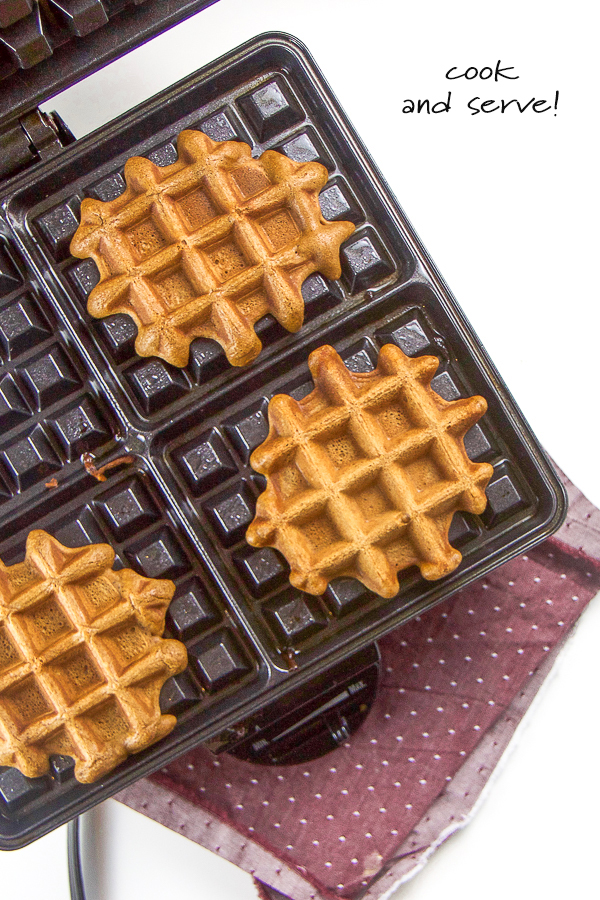 Healthy Gingerbread Waffles for Baby + Toddler