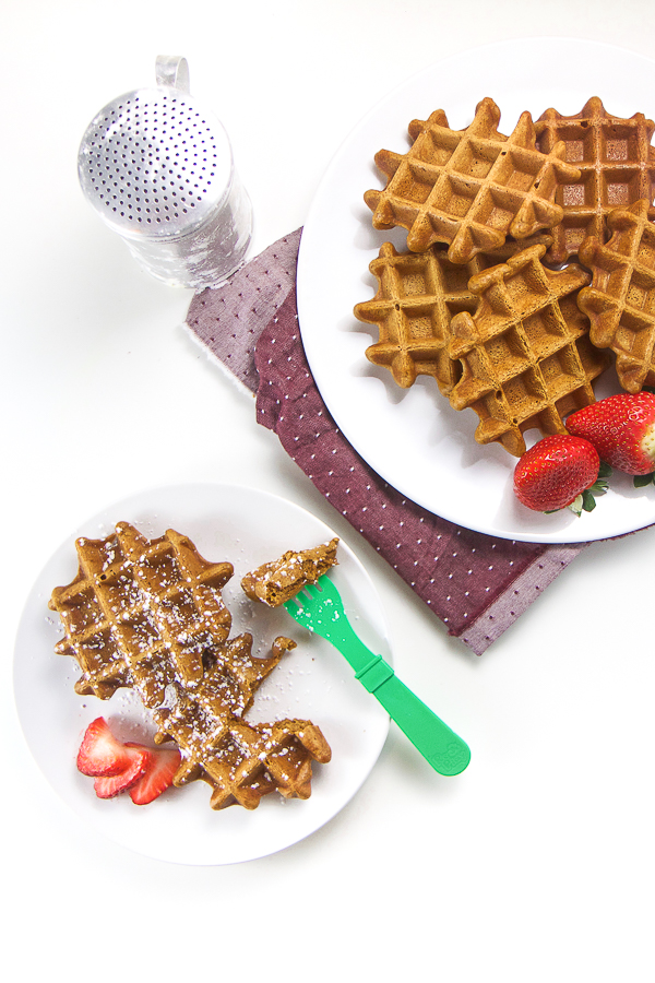 Healthy Gingerbread Waffles for Baby + Toddler - Age: 9 months and upPrep Time: 10 minutesCook Time: 15 minutesServings: 6-8 servingsStorage: store in air-tight contain in the fridge for one week or freezer for 2 months