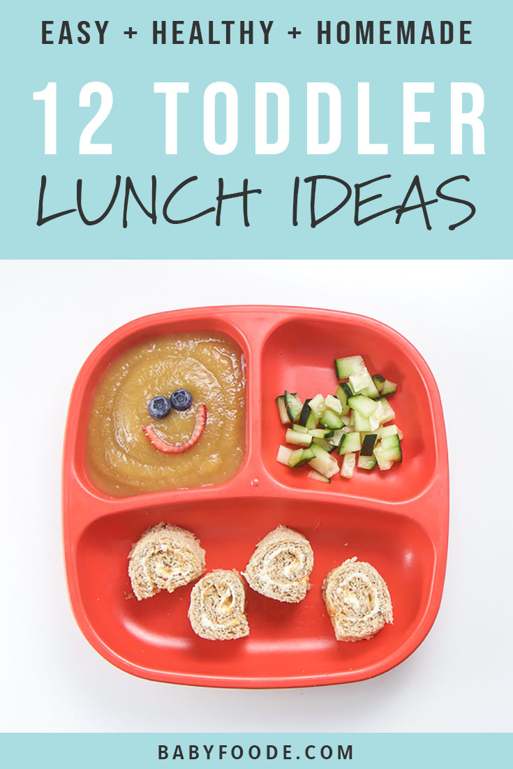These 12 Healthy Toddler Lunches are healthy, fruit and veggie packed, balanced meals that will be devoured by your toddler with no fuss! Great for kids of all ages and even picky eaters, you'll love these easy and fast toddler lunch ideas. #lunch #toddlers