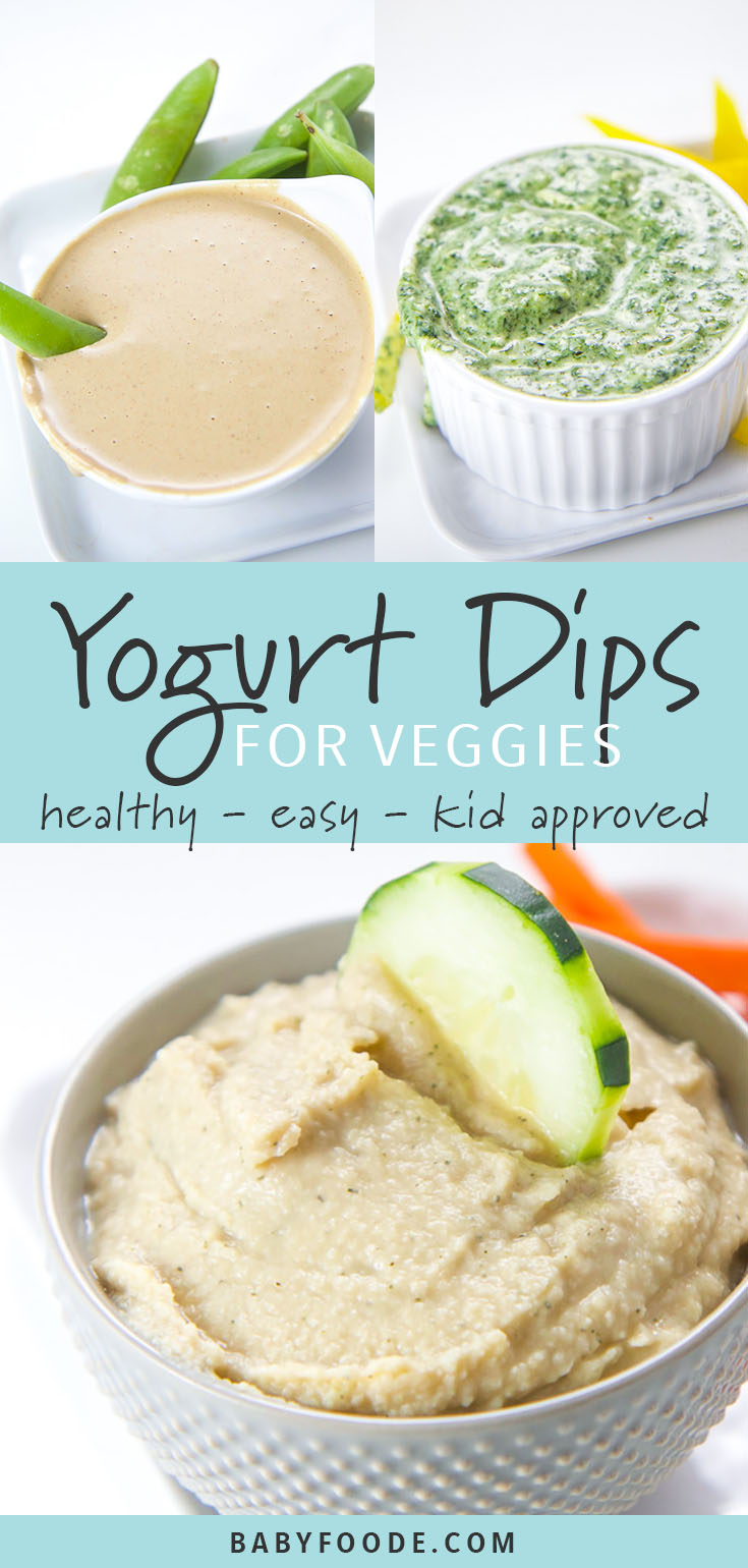 Struggling to get your toddler to eat their vegetables? I hear you. Homemade yogurt dips for veggies to the rescue! These three dip recipes are easy, healthy, and delicious. Your toddlers and big kids will be so excited to dive in and chow down! #kidfriendly #snacks