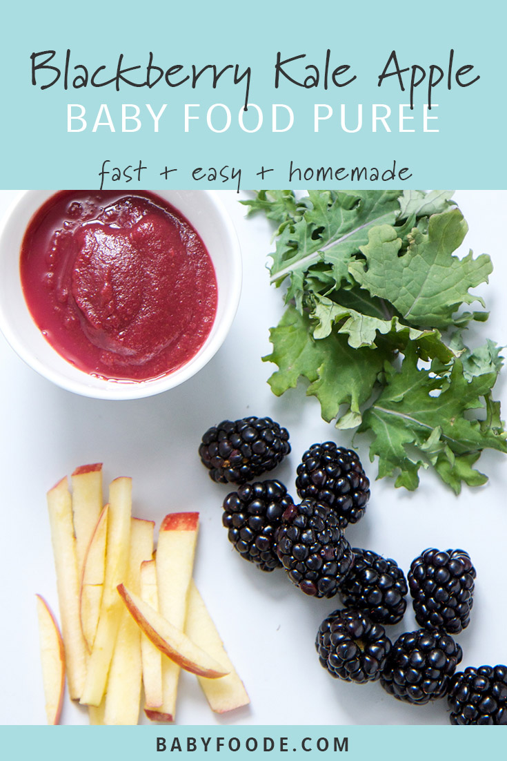 Blackberry, Kale, and Apple Puree