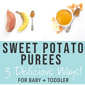 Sweet Potato Purees - 3 Delicious Ways!