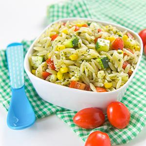 Summer Pesto Finger Salad for Baby + Toddler
