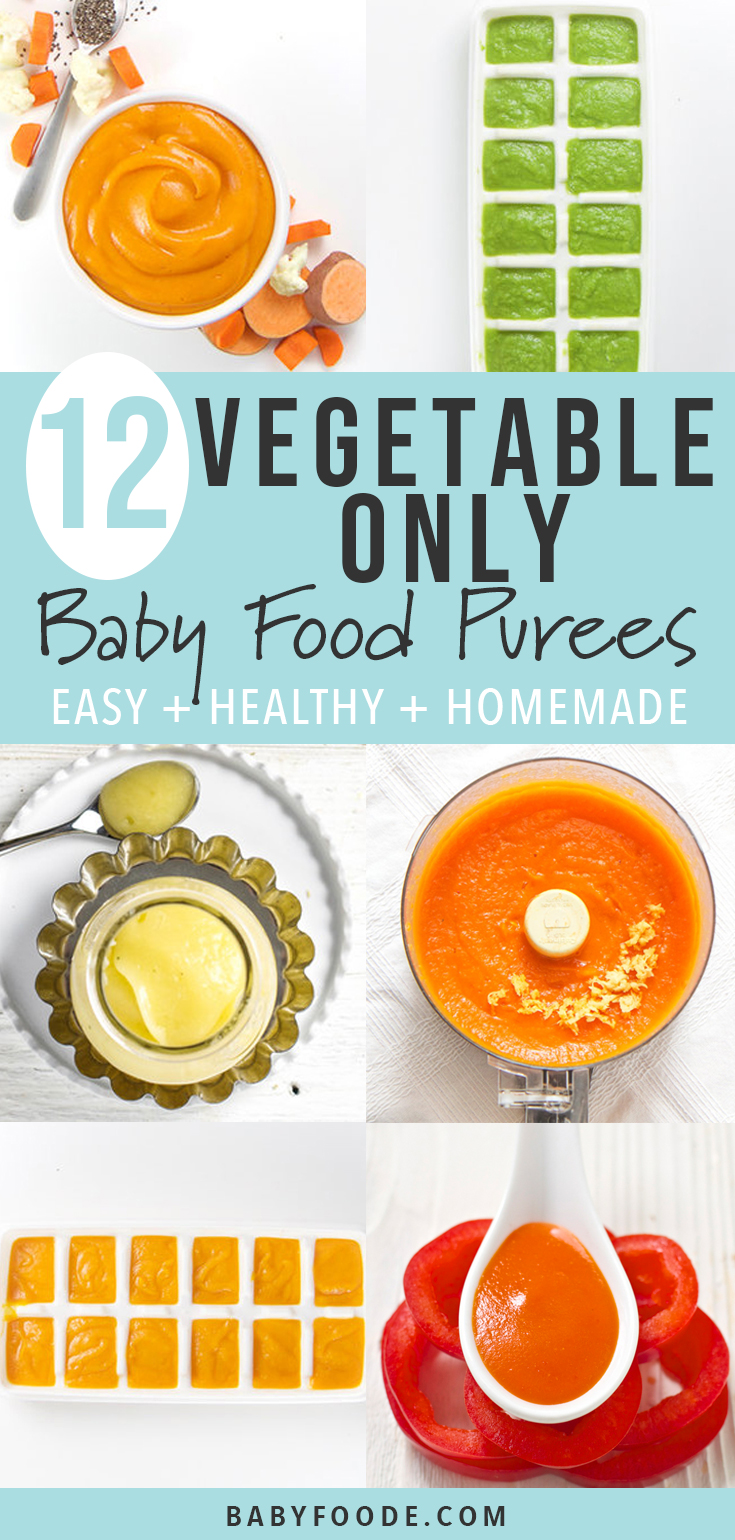 12 Vegetable Only Baby Food Purees