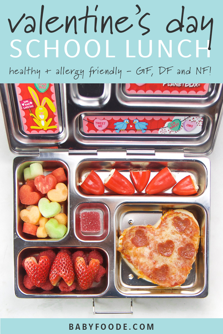 Valentine's Day School Lunch (can be made GF, DF + NF)