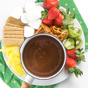 Easy Chocolate Fondue for Toddlers + Kids