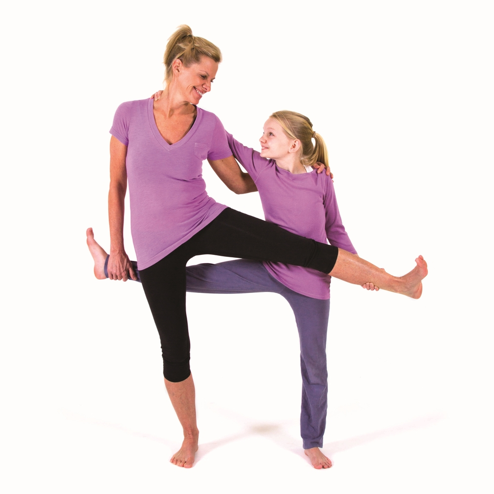 Tic-Tac-Toe Pose, from Lisa Flynn's  Yoga for Children