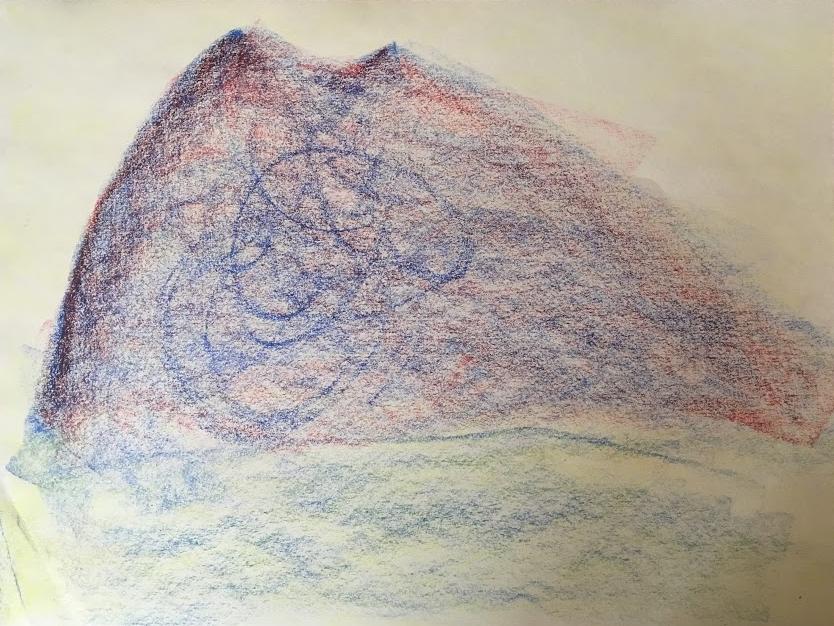 Isaac's block crayon drawing