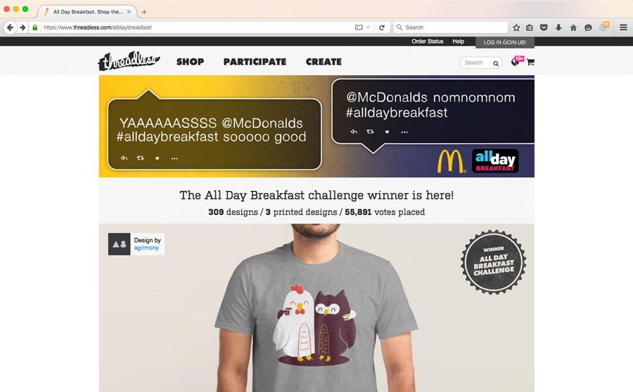 We even threw a Threadless design contest.