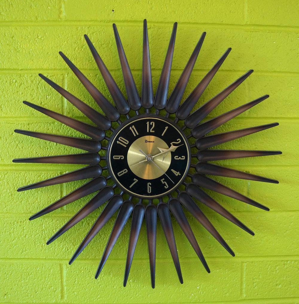 1960s Syroco Starburst Clock