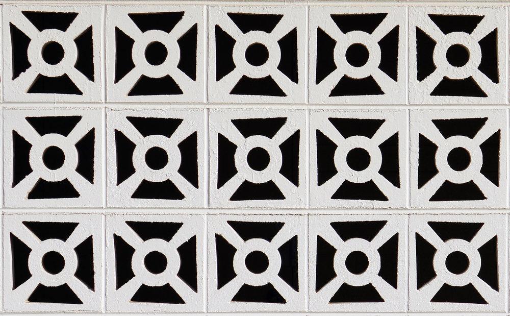 1959. Bueler Mortuary Breeze Block Detail