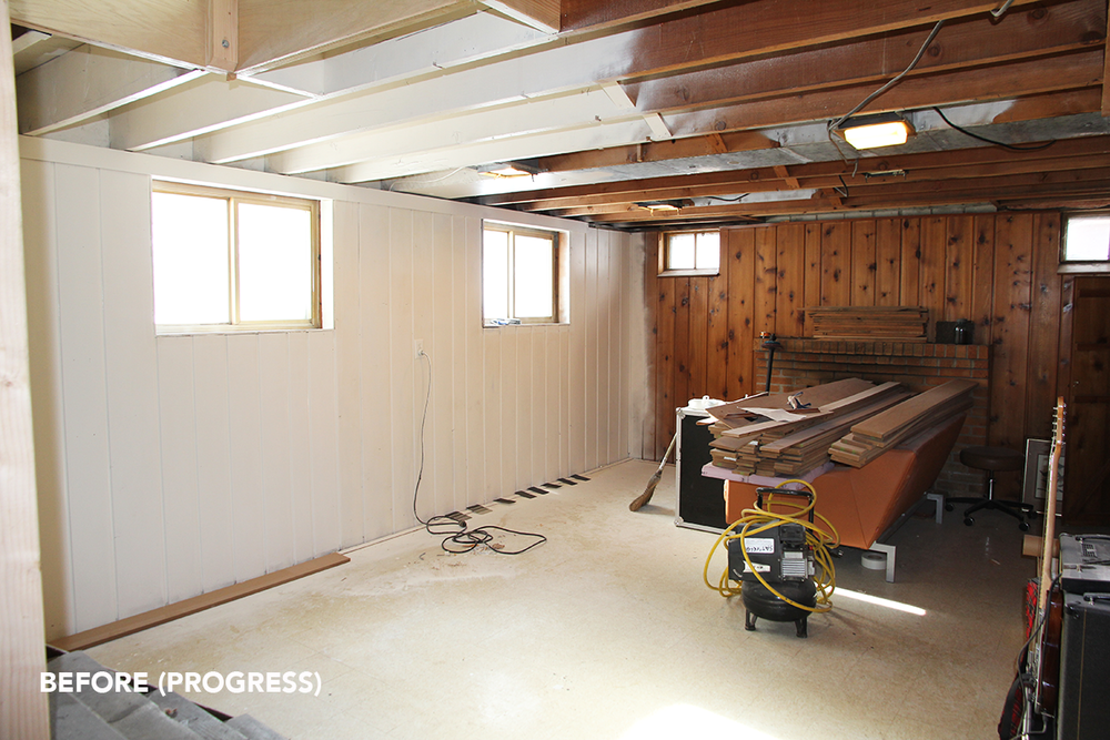 FROM THE WEEKEND: BASEMENT PROGRESS — Fairly Modern