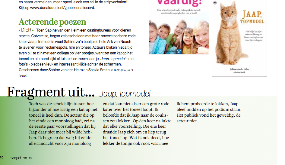Fragment in Margriet Magazine