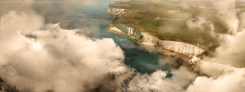 The graded version of the Burberry Mattepainting of the Cliffs of Dover. This was one of several shots in the final campaign which was projected on massive screens at Burberry's opening in Taiwan.
