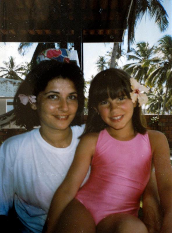 mom and me in brasil