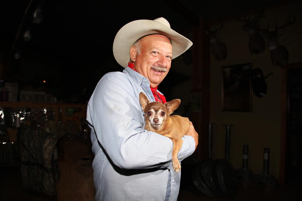 texas cowboy and chihuahua