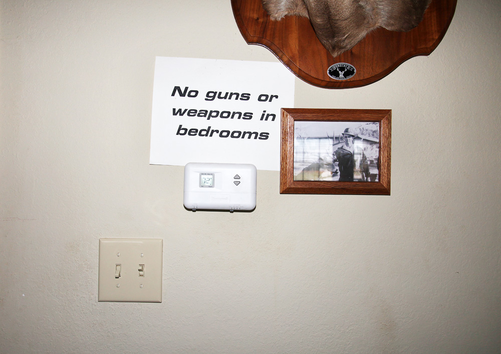 no guns in bedroom