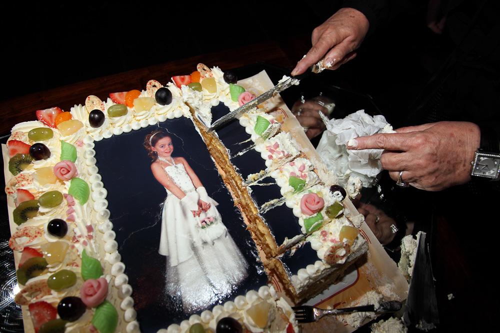 first communion photo cake