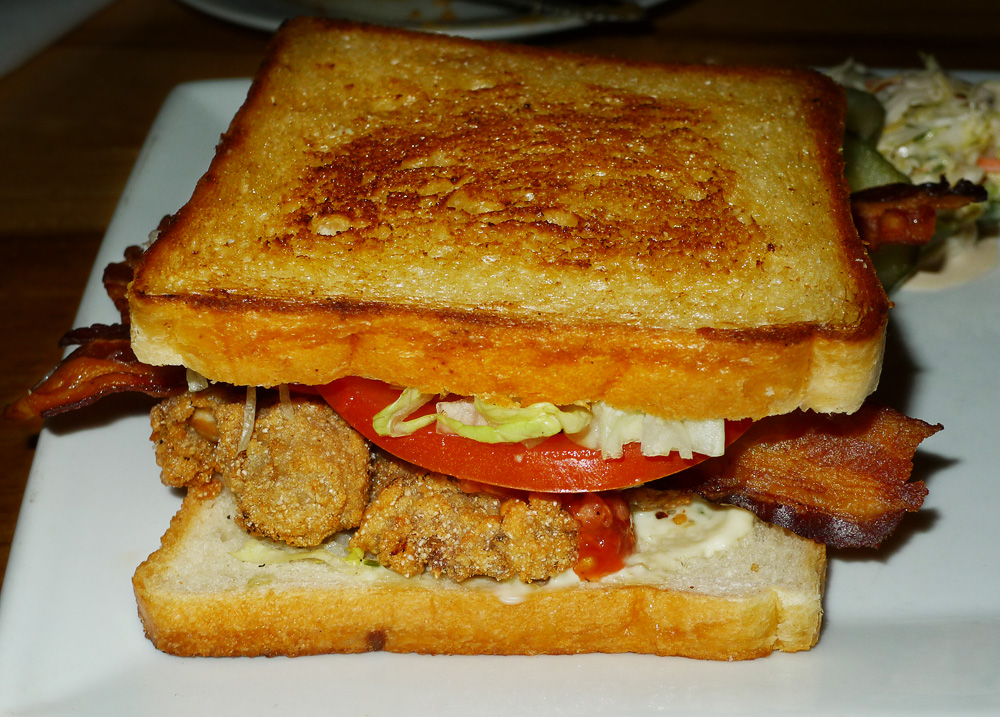 oyster bacon sandwich