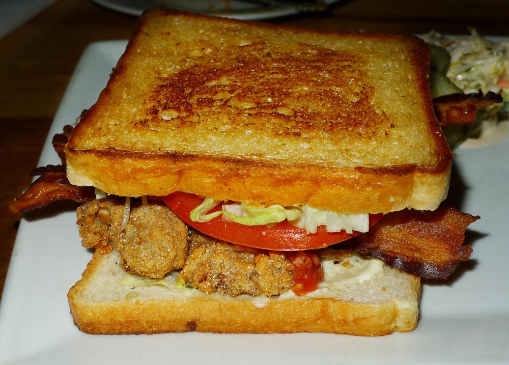 oyster bacon sandwich