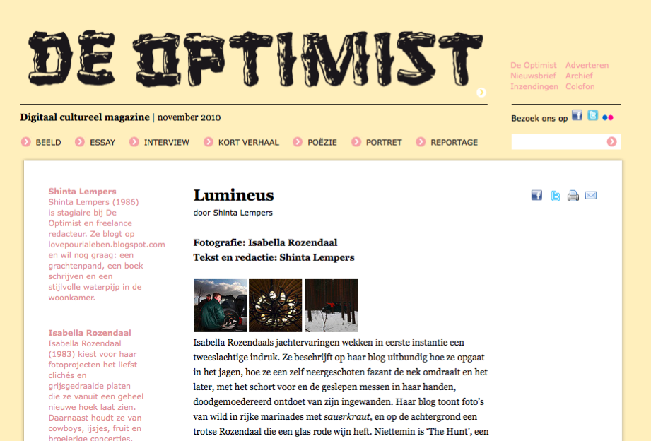 de optimist the hunt