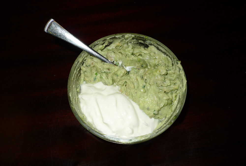 guacamole and sour cream