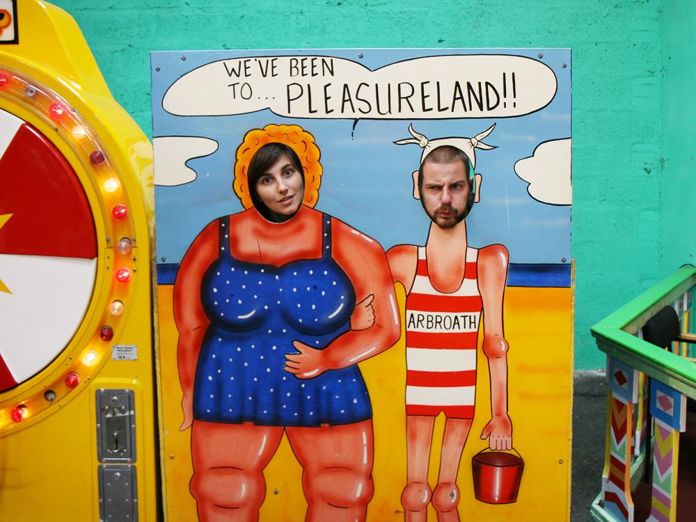 pleasureland photo op