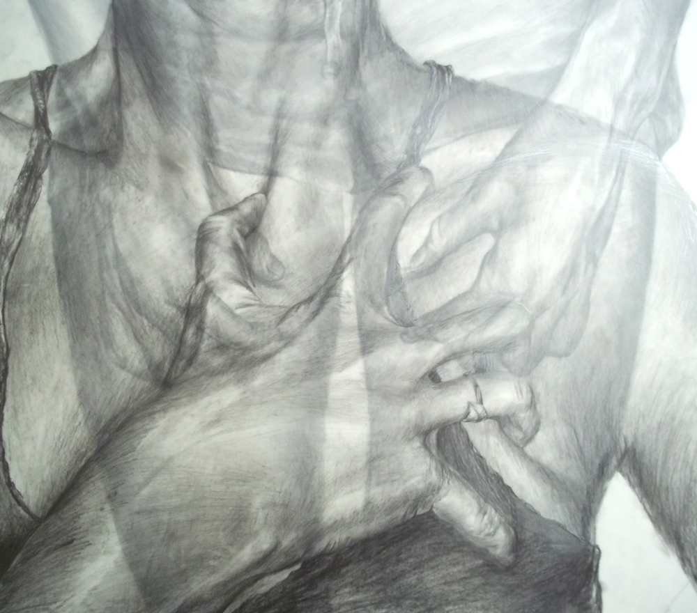 Anxiety,  Pencil on Mylar, 2011, 18 x 24""