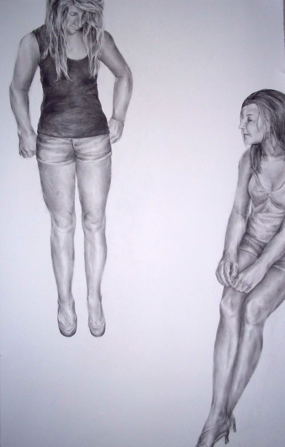 Stare,   Pencil on Paper, 2011, 3 x 5 ft.