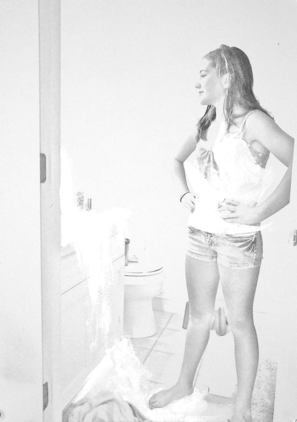 """Dana,   Mixed Media,2011, 8 x 10"""""""