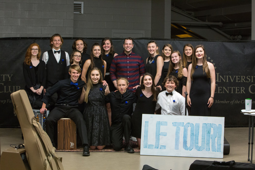 Nashville music artist Jonny Diaz pals around with CCS student arts group LeTour!