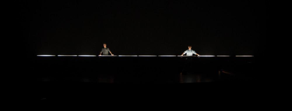 """Dark"", with Caleb Sponheim and Ben Doehr (L to R). Photo by John Brady"