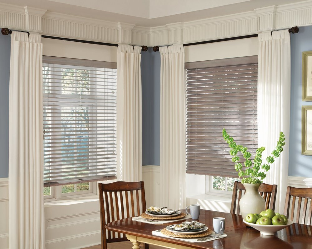 Window treatments decorlink for Dining room windows