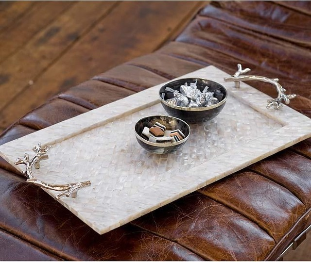 Mother of Pearl Tray with Coral Handles.jpg
