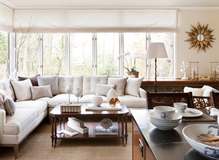House Beautiful online, Summer 2014:  Victoria's DC Design House family room is profiled on House Beautiful's website.