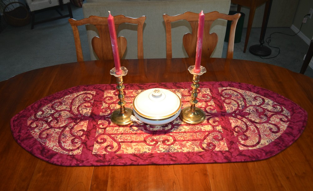 "Karen's Hospitality   , 20"" x 52.5"" table runner"