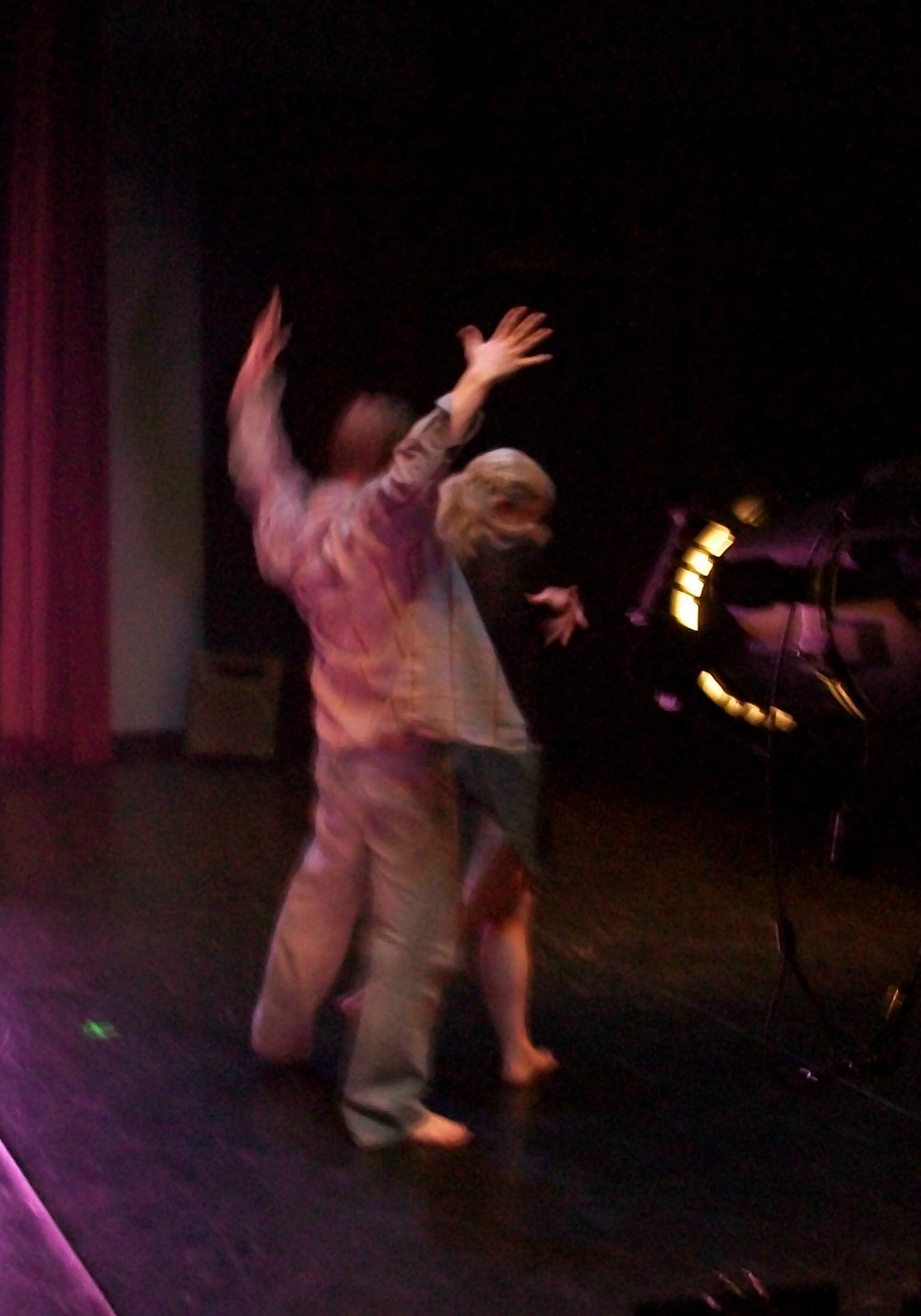 Margaret Brewster Willingham dancing with Joe Jensen, 2010.