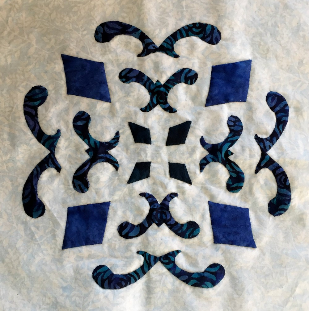 "Double Dutch Delft:    Block   A , 12"" x 12"""