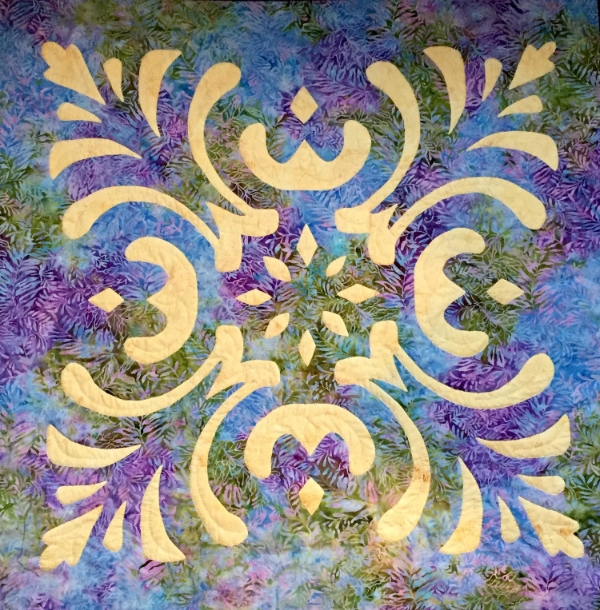 "Majesty, Medallion IX(36"" x 36"") designed for Island Batik, spring 2015."