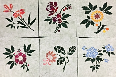 Our Victorian Flower Garden Quilt is blooming with 6 of 9, blocks. Applique & reverse applique. Lily, Rose, Sunflower, Apple Blossom, Trumpet Vine & Forget-Me-Not.