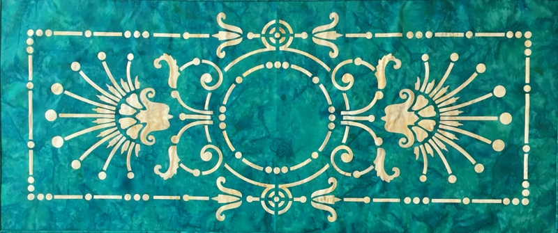 Victorian Urn Table Runner!   Get the  PATTERN . Get the  LASER CUT KIT ! 3 colourways to choose from.