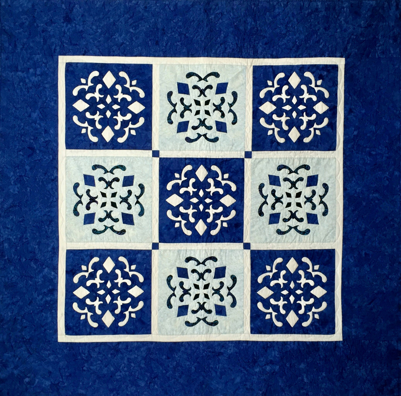 "Double Dutch Delft Quilt (56"" x 56"")"