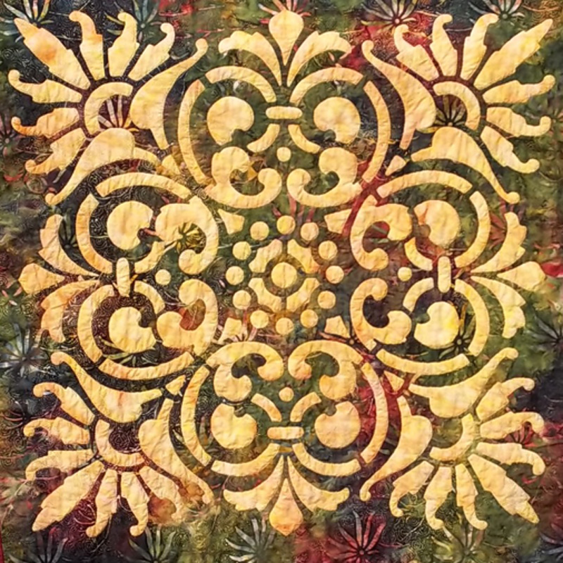 "Scroll & Fan, Medallion III (36"" x 36""). Hand example"