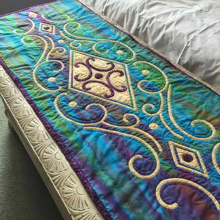 "Vintage Jewel table runner 6 (18"" x 48"") hand"