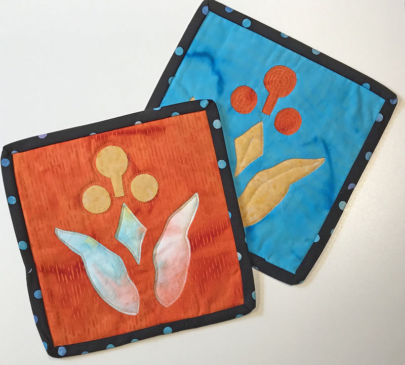 Playing with Reverse Applique Take & Teach, Sunday, May 21..
